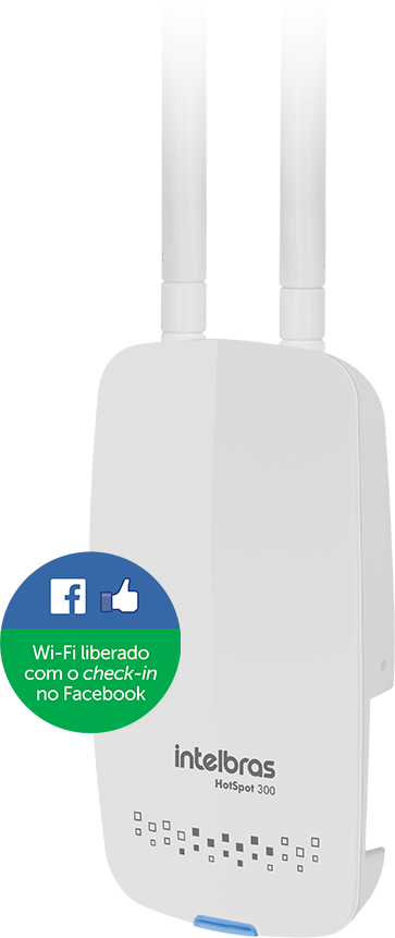 Wi-fi liberado com check-in no Facebook